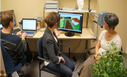 An example session for the experimental Parkinson's Disease visual rehabilitation games.