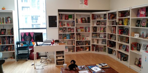 The Canada Comics Open Library Toronto Branch at the Centre For Social Innovation Regent Park.